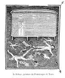 Chrze?cijanin ksi??ka Stary wizerunek ilustracja wektor