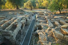 chrześcijanina necropolis, Agrigento Zdjęcie Stock