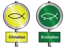 chrześcijańska ewolucja Obrazy Royalty Free
