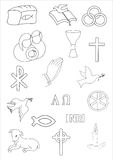 Chrześcijańska ikona Obraz Royalty Free