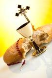 Chrześcijański święty communion, jaskrawy tło, naszły pojęcie Obraz Stock