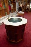 chrzestna chrzcielnica Zdjęcie Royalty Free