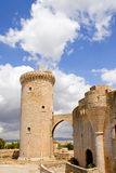 Château Bellver dans Majorca chez Palma de Majorque Image stock
