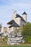 Château de Bobolice, Pologne Photo stock