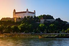 Château de Bratislava dans la capitale de la république slovaque Photos libres de droits