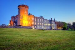 Château de Dromoland au crépuscule en Irlande occidentale. Photo stock