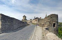 Château de Kamianets-Podilskyi en Ukraine Photographie stock