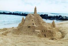 Château de sable de Kauai Photos stock