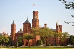 Château de Smithsonien dans le Washington DC Images libres de droits