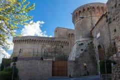 Château de Volterra Photos libres de droits