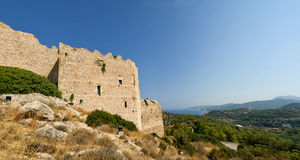 Château médiéval de Kritinia en Rhodes Grèce Photos libres de droits