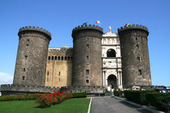 Château Nuovo, Naples Images libres de droits