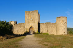Château Puivert dans les Frances Image stock