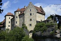 Château Rabenstein, Bavière, Allemagne du sud Image libre de droits