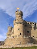 Château réel d'EL de Manzanares Photos stock