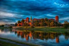 Château sur le fleuve Photographie stock libre de droits