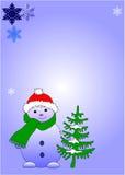Chtismas card. Snowmen Stock Image