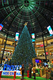 Chtistmas eve in shopping mall Stock Photography