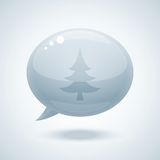 Chtistmas tree in form of speech bubbles. Vector illustration Royalty Free Stock Photo