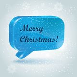 Chtistmas tree in form of speech bubbles. Vector illustration Stock Photo