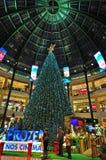 Chtistmas-Vorabend im Einkaufszentrum Stockfotografie