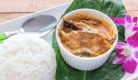 Chu Chee fisk med ris Royaltyfri Bild