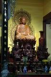 Chua Long Son temple in Chau Doc. Buddha statue in Chua Long Son temple in Chau Doc in Vietnam stock photography