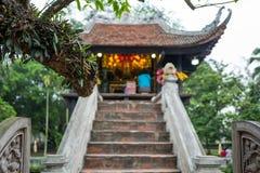 Chua Mot Cot Pagoda em Hanoi, Vietname fotografia de stock
