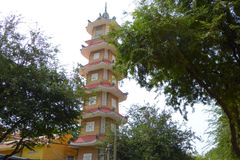 Chua Xa Loi Temple pagoda Royalty Free Stock Photos