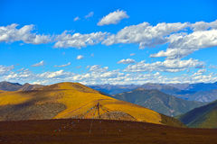 Chuan Xika child pull Pass Mountain scenery Royalty Free Stock Photo