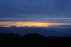 Chuanzang south line niubei mountain sunrise Stock Photo