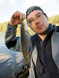 Chub caught on a green hardbait Royalty Free Stock Image