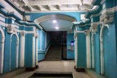 Chubakovs老有益的房子的典雅的入口  免版税库存图片