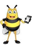 Chubby Bee Character Immagine Stock
