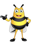 Chubby Bee Character Royalty Free Stock Image