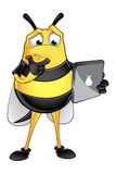 Chubby Bee Character Stock Photography