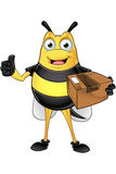 Chubby Bee Character Royalty Free Stock Photos