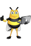 Chubby Bee Character. A cartoon illustration of a chubby looking bee character Royalty Free Stock Images