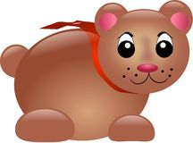 Chubby brown bear Royalty Free Stock Images