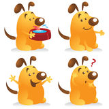 Chubby Dog Set. Chubby dog cartoon character set in different poses. Great for pet mascot Stock Image