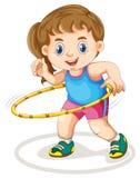 Chubby girl doing exercise