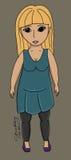 Chubby girl vector illustration Royalty Free Stock Image