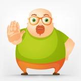 Chubby Man alegre Foto de archivo libre de regalías