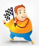 Chubby Man alegre Imagen de archivo libre de regalías