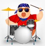 Chubby Man alegre Imagens de Stock Royalty Free