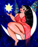 Chubby moon fairy Royalty Free Stock Photography