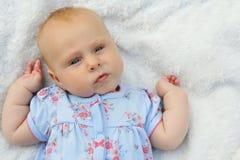 Chubby Newborn Baby Girl doux Image libre de droits