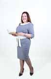 Chubby  plus size woman with a beautiful smile Stock Photo