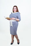 Chubby  plus size woman with a beautiful smile Stock Images