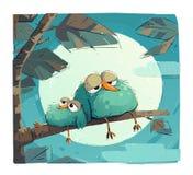 Chubby Sleepy Birds lizenzfreie stockfotos